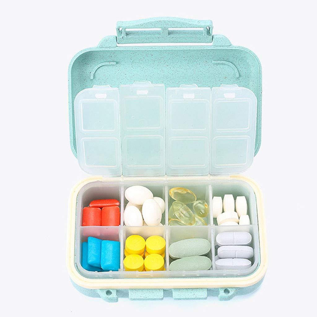Rose Syeytx Pill Box En Plastique Creative Pill Box Portable M/édecine Tablette Distributeur Organisateur De Voyage Pill Box Bo/îte De Vitamine Distributeur Organisateur De Stockage Cas
