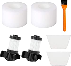 2 HEPA Filters + 2 Foam&Felt Filters Compatible with Shark IONFlex DuoClean X30 X40 F60 F80 IF200 IF201 IF202 IF205 IF251 IF252 IF281 IF282 IF285 UF280 IC205 IR70 IR100 IR101,Part XPREMF100 XPSTMF100