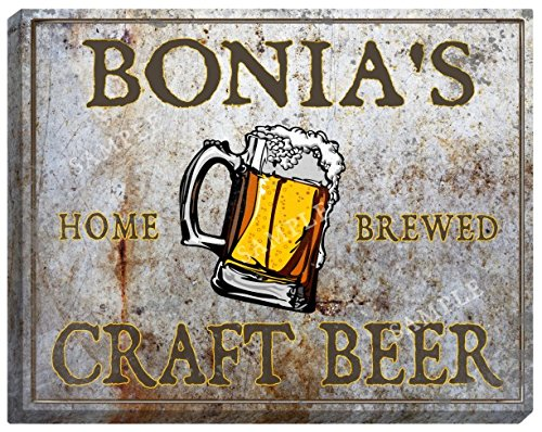bonias-craft-beer-stretched-canvas-sign