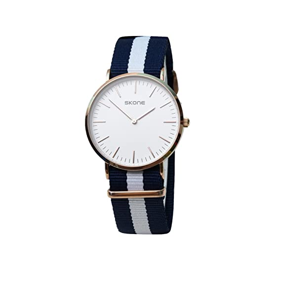 79106eebe Buy Skone 6165-man-5 Analog White Dial Denim Strap Wrist Watch   Casual  Watch - For Men s Online at Low Prices in India - Amazon.in
