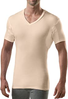 product image for Sweatproof Undershirt for Men with Underarm Sweat Pads (Slim Fit, V-Neck)
