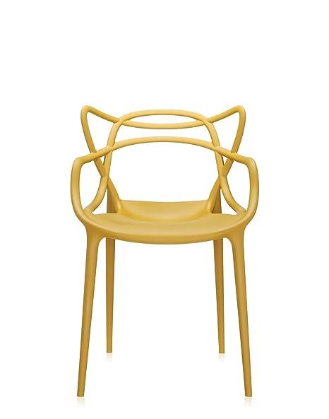 Kartell 5865/16 Masters Sedia, Plastic, Yellow, 53.5x55x83cm