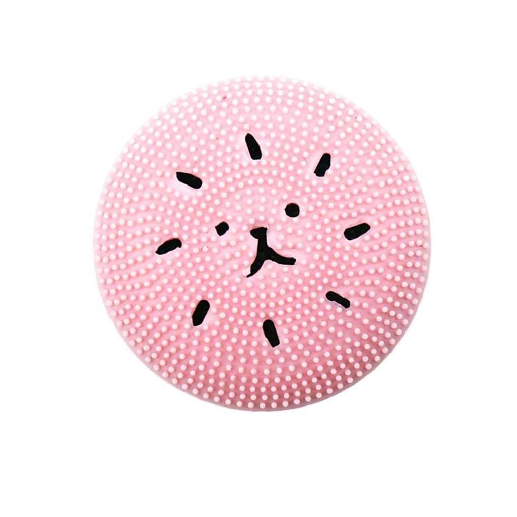 NAYUKY Limpiador Facial Herramienta de Limpieza de Dibujos Animados Cepillo Exfoliante Facial del depurador de Silicona Exfoliante Limpiador Profundo Limpieza del poro Limpiador Masaje