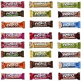 24 x Assorted Nakd Raw Fruit Nut Bars 30/g35g Each - Variety Pack - Gluten Wheat Dairy Sugar Free