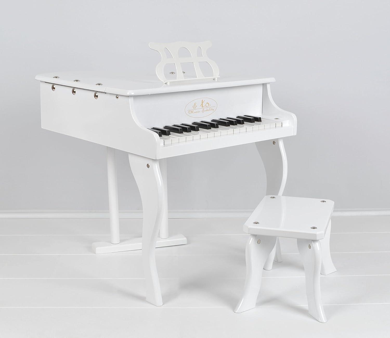 TS Ideen 5356 Piano de cola con 30 teclas para niños a partir de 3 años, blanco: Amazon.es: Instrumentos musicales