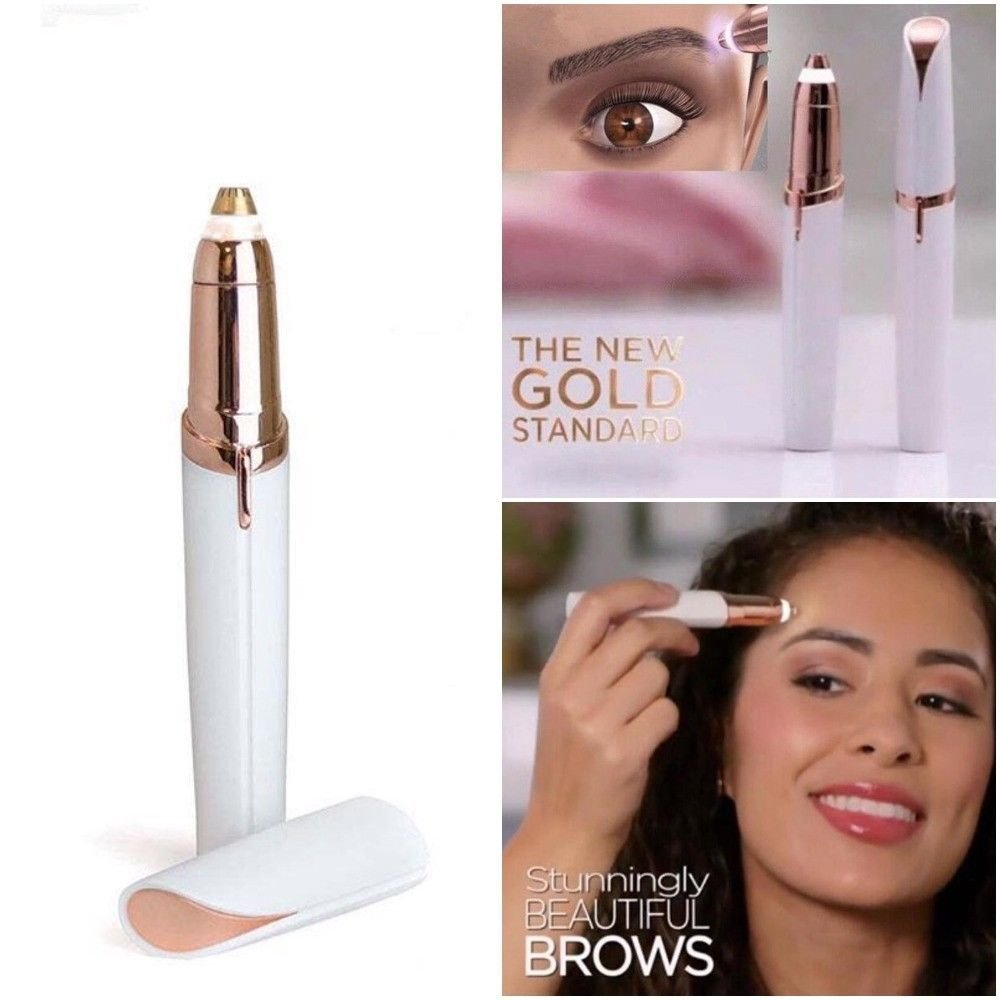 Hair Remover Brows Best Eyebrow Trimmer, Safe Women's Painless Hair Remover, Flawless touch As Seen On TV(White)