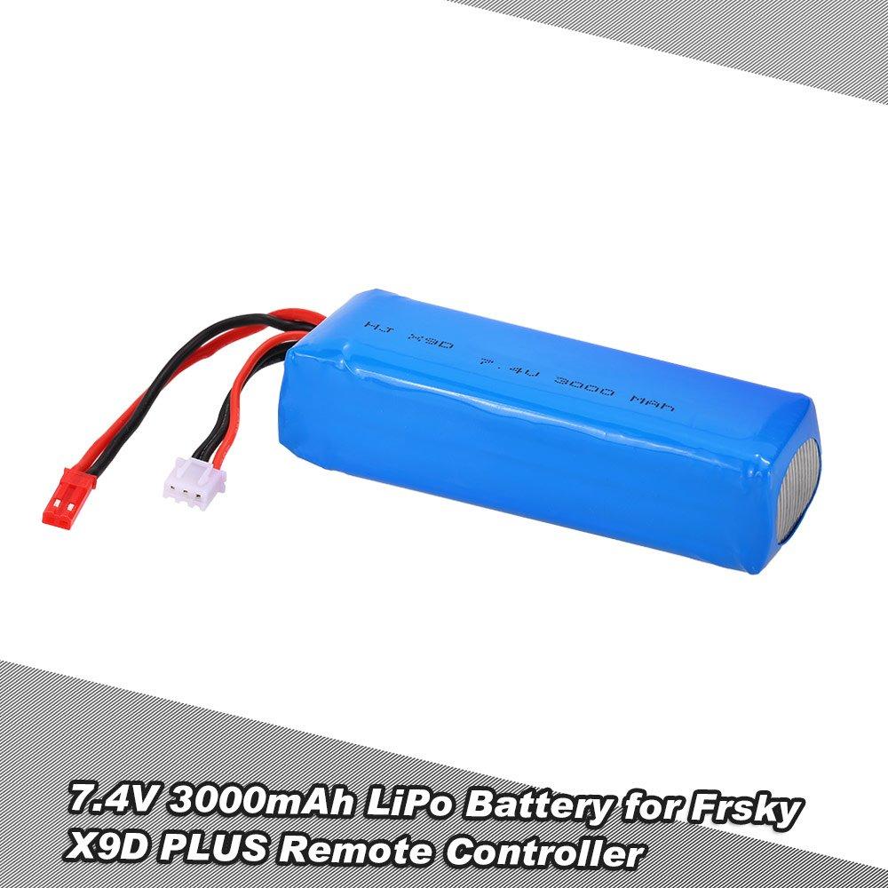 Goolsky 7.4V 3000mAh Li-Po batería para FrSky Taranis X9D PLUS ...
