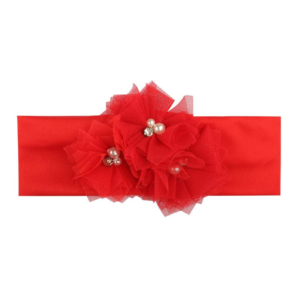 Sinwasd Filles Bandeaux ÉLastique Cheveux,Nouvelle Mode Filles Big Bow Bande de Cheveux Accessoires pour TêTe Florale Filles Bandeaux Hairband
