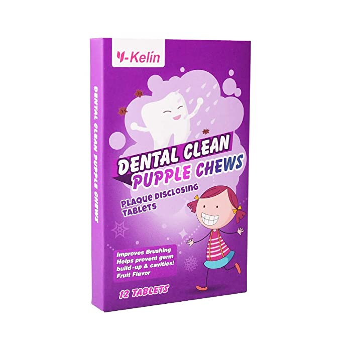 AmazonSmile: Y-Kelin Dental Plaque Indicator Dental Plaque Disclosing Tablet 12 Tabs Per (pack of 1): Beauty