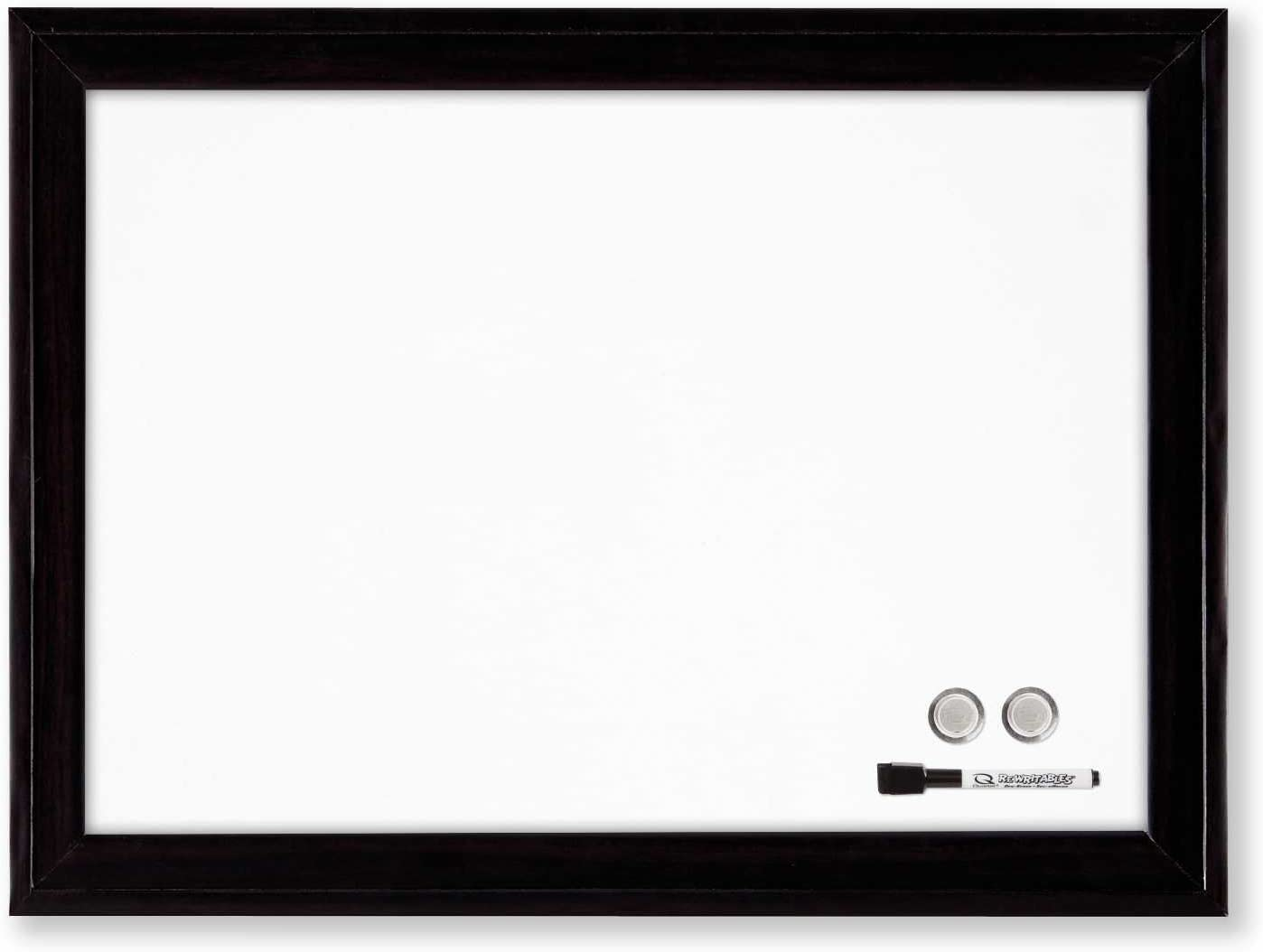 """Quartet Magnetic Whiteboard, 11"""" x 17"""" Small White Board for Wall, Dry Erase Board for Kids, Perfect for Home Office & Home School Supplies, Dry Erase Marker, Magnets, Black Frame (79280)"""
