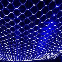 MIRUIKE Net Lights Christmas Outdoor LED String Light for Garden Christmas Wedding Lawn Decorative Lamp Blue ( 3m*2m,10 ft *6.6ft )