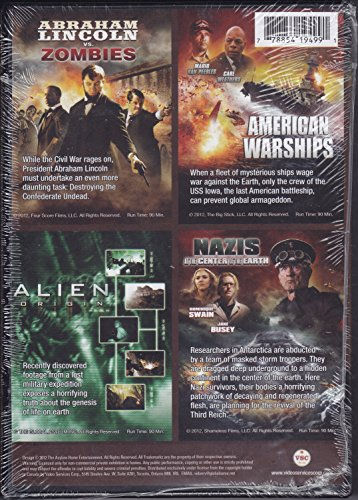 Abraham Lincoln vs. Zombies/American Warshipd/Alien Origin/Nazis at the Center of