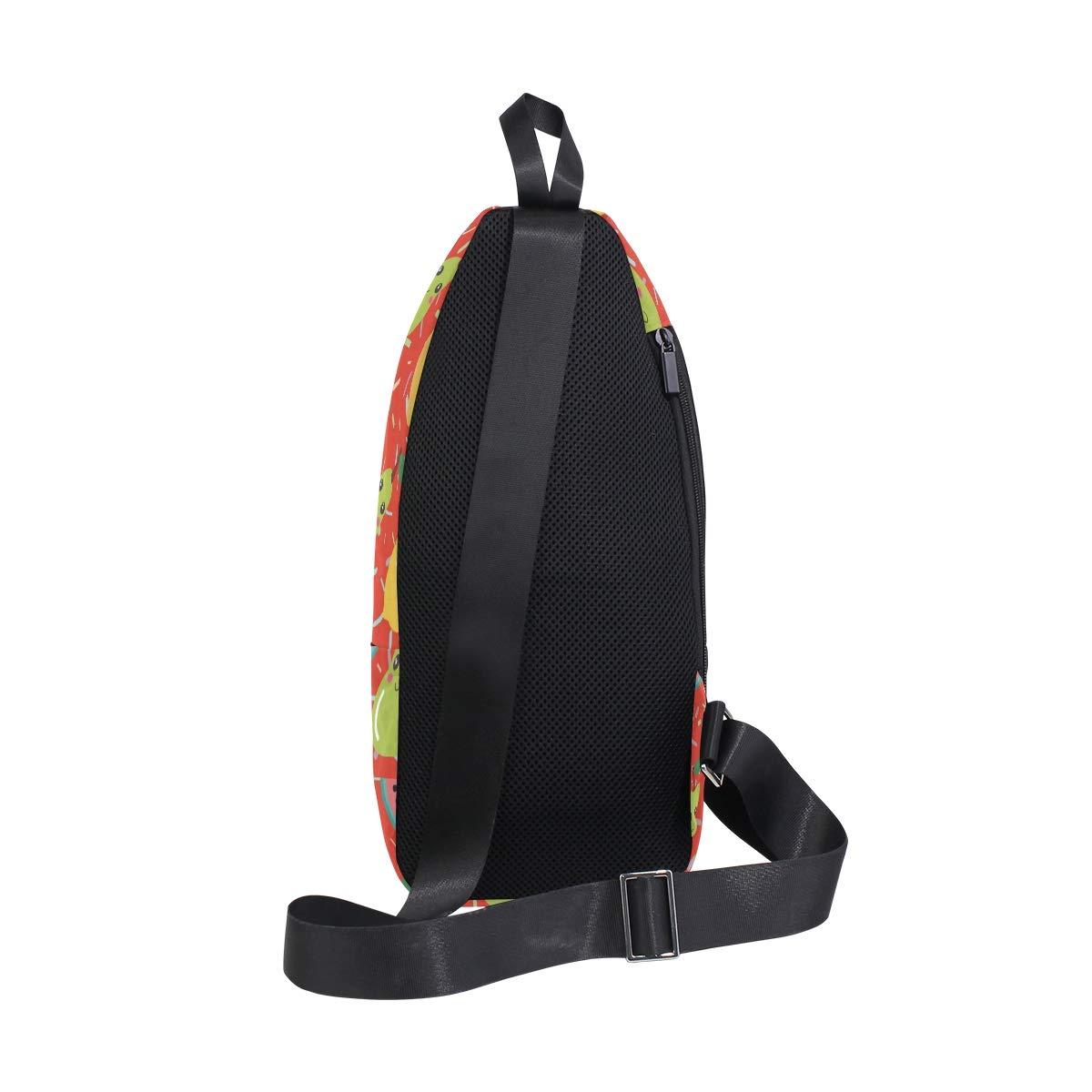 Unisex Messenger Bag Cartoon Watermelon Banana Shoulder Chest Cross Body Backpack Bag