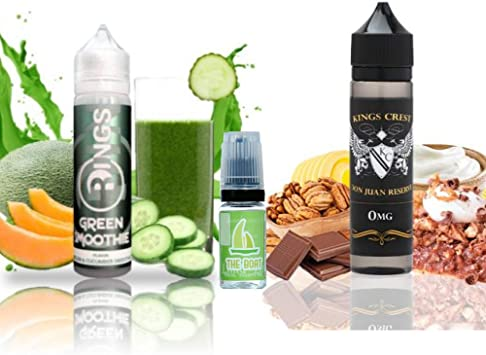 E Liquid Rings Green Smoothie 50ml - 70vg 30pg + E Liquid Kings Crest Don Juan Reserve