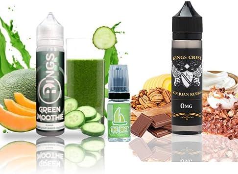 E Liquid Rings Green Smoothie 50ml - 70vg 30pg + E Liquid Kings Crest Don Juan Reserve