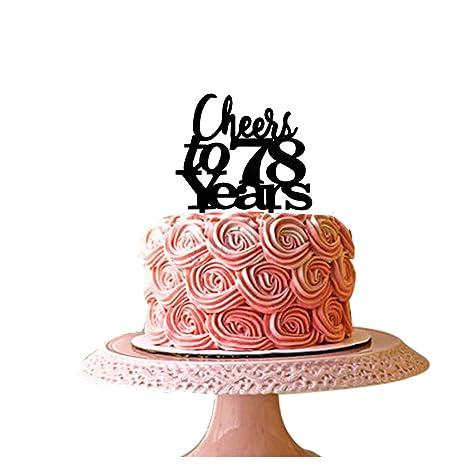 Amazon.com: Cheers a 78 años decoración para tarta para 78th ...