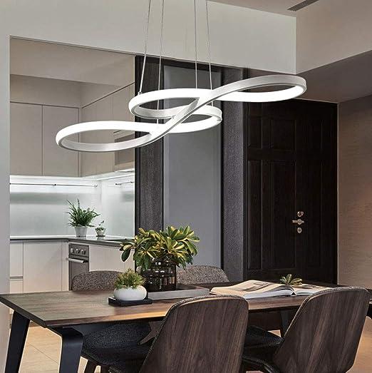 dimmer 58W suspensión LED salón colgante lámpara dormitorio 8nNvwm0O