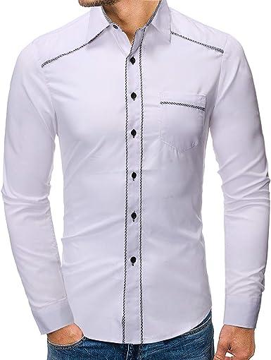 Camisa versátil de Manga Larga Delgada con Estampado de ...