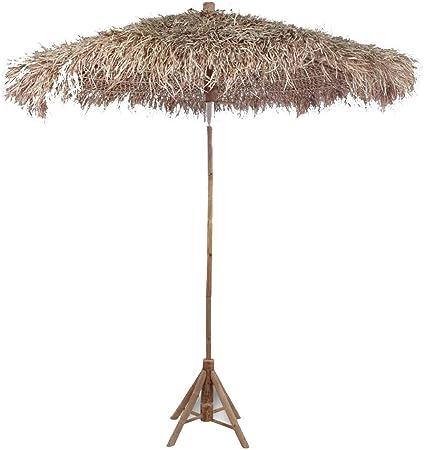 Sombrilla de bambú de 270 cm, parasol de hojas de plátano, sombrilla parasol de jardín grande de exterior, para balcón, terraza, exterior, jardín y playa: Amazon.es: Hogar