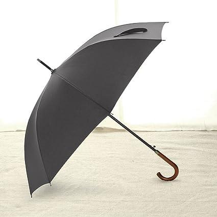 549744074a5c Amazon.com: Umbrella Windproof Wooden Handle Gentleman Curved Handle ...