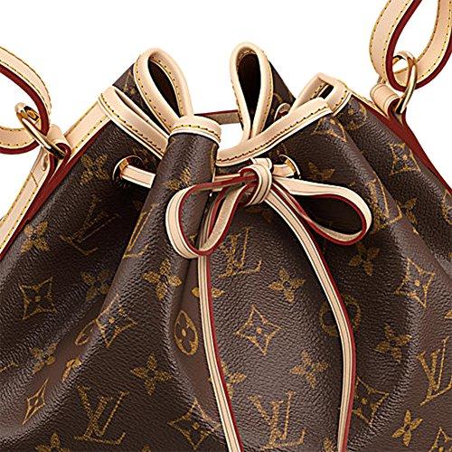Authentic Louis Vuitton Monogram Canvas Petit Noé NM Shoulder Bag Strap Handbag Article: M40818