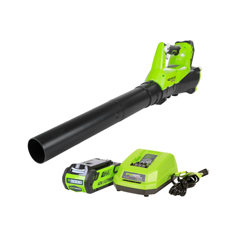 Greenworks 40V 115 MPH - 430 CFM Cordless Brushless Blower, 2.0 AH Battery Included BA40L210