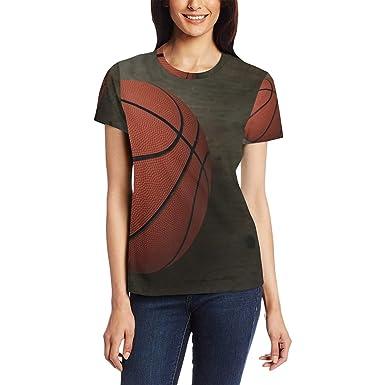 Camiseta para Mujer Deporte Deporte Juego de Baloncesto Manga ...