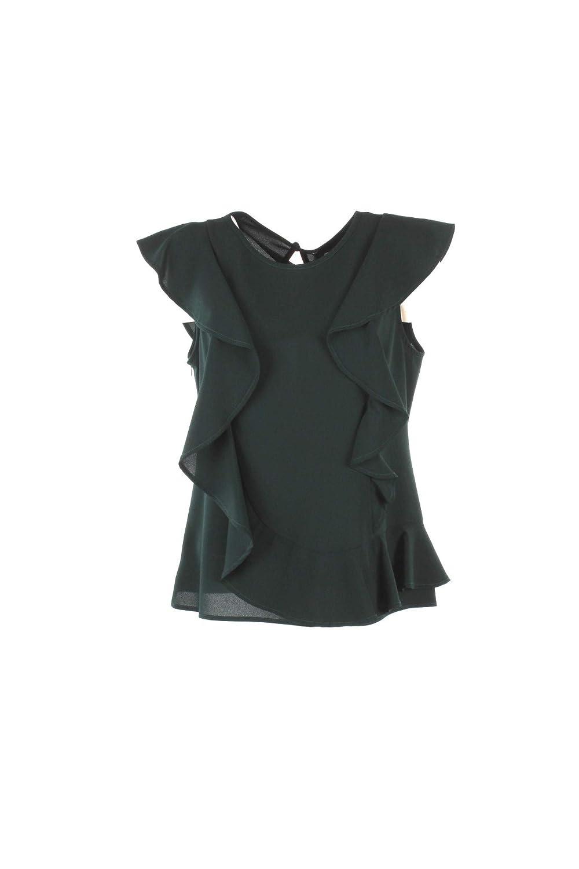 PARIS Camicia Donna XL Verde Ma19162 Dgeo Autunno Inverno 2018/19