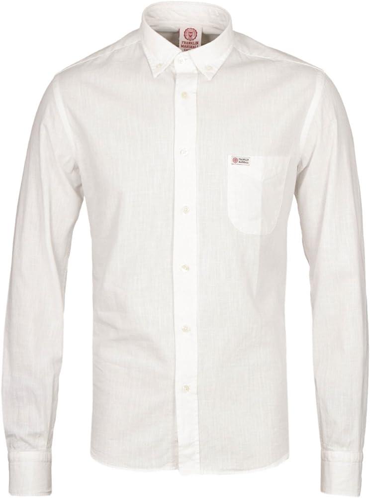 Franklin & Marshall Ligero Martins Camisa en Color Blanco Blanco Blanco Small: Amazon.es: Ropa y accesorios