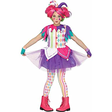Fun World Little Girlu0027s Rainbow Harlequin Childrens Costume Multi Medium  sc 1 st  Amazon.com & Amazon.com: Girls Rainbow Harlequin Teen Halloween Costume: Clothing