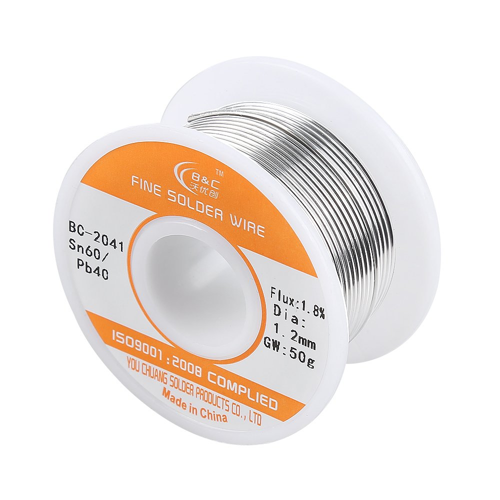 Solder Wire 60-40 with Rosin Core for Electrical Soldering (1.2mm ...