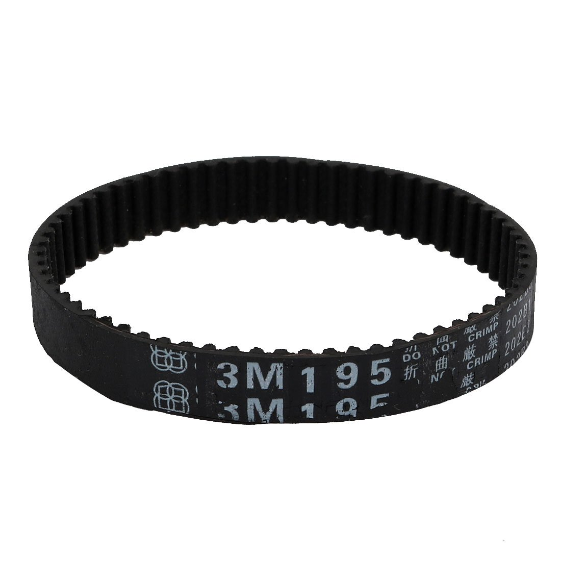 uxcell HTD3M186 62 Teeth 10mm Width Synchronous Closed Loop Rubber Timing Belt Black