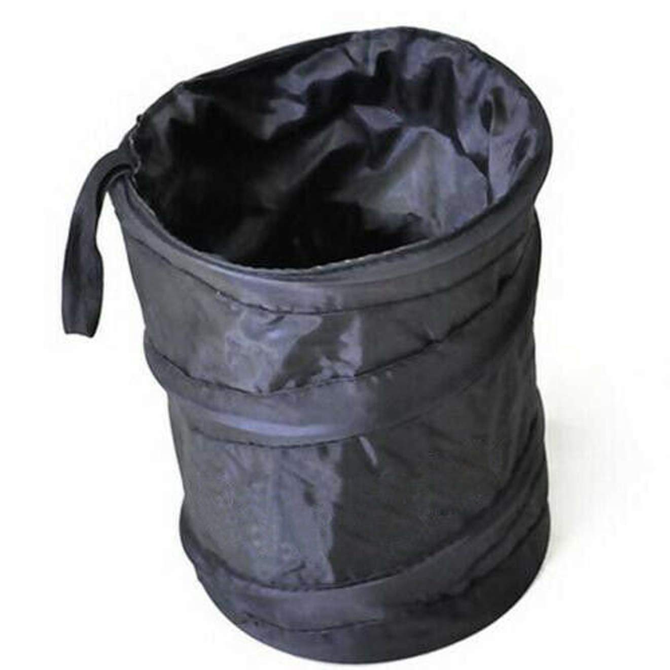 Collapsible Mini Bin for Car Water Resistant Black Litter Waste Rubbish Trash Bag Boat Auto Rv Pop Up Garbage Black, ONE Size