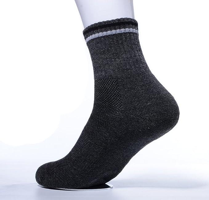 2 Pairs High Performance Men's Breathability Leisure Sport Socks, Grey