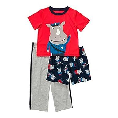 2fc738928 Amazon.com  Carter s Infant Boys 3 Piece Sleepwear Set Hippo ...