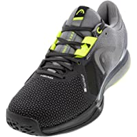 HEAD Sprint Pro 3.0 SuperFabric - Zapatillas de tenis para hombre, color negro y amarillo, talla 37.0