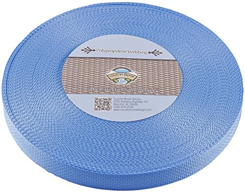 Country Brook Design 1-Inch Polypropylene Webbing, 100-Yard, Baby Blue by Country Brook Design