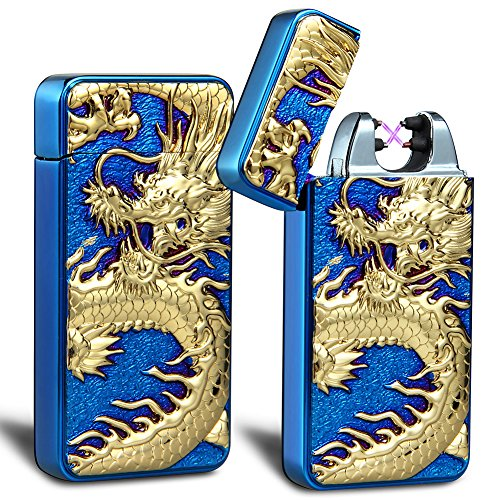 kivors-usb-rechargeable-windproof-flameless-electronic-double-pulse-arc-cigarette-lighter-belief-chi