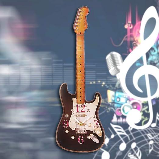 Guokee Guitarra eléctrica Reloj de Pared Guitarrista Estudio ...