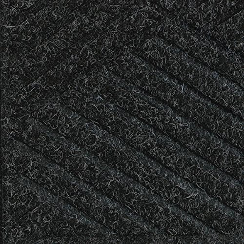 [Waterhog Premier Fashion Black Smoke 3' x 4' Entrance Mat - Smooth Back, Fabric Border] (Premier Entrance Mat)