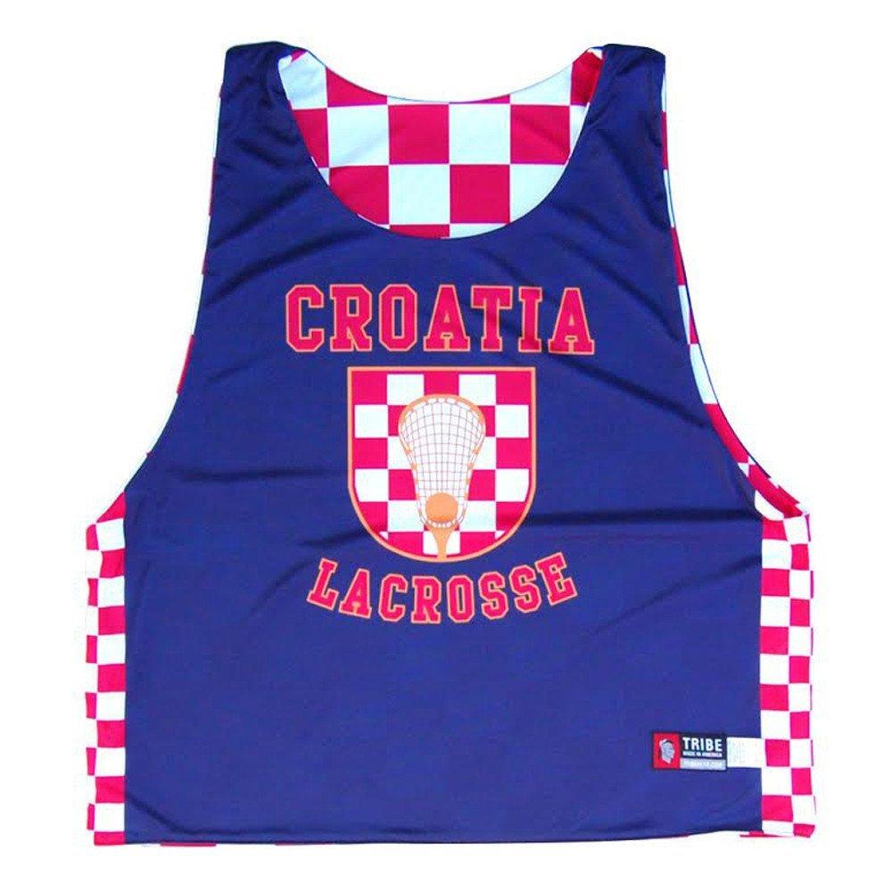 Croatia Lacrosse Sublimated Reversible Sublimated Pinnie Red White XXX-Large