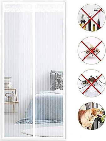 NIYOU Cortina Mosquitera Magnética para Puertas, Anti Insectos Moscas y Mosquitos, Cierre Automático, para Puertas Correderas/Balcones/Terraza,White,160 * 220cm(63 * 87inch): Amazon.es: Hogar