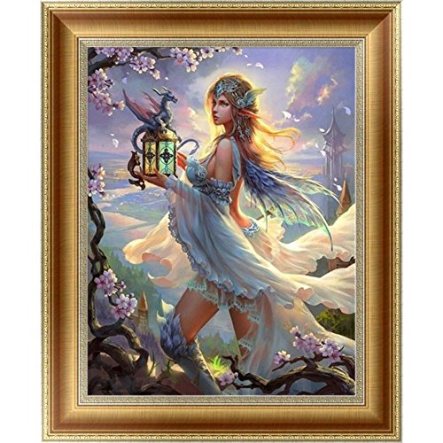 Freeas 5D DIY Diamond Painting Rhinestone Pictures Of Crystals Embroidery Kits Home Wall Decoration Craft Figure Theme (Fairy)