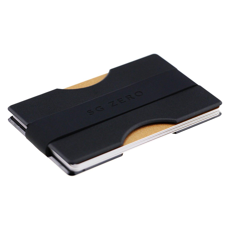 Billetera minimalista delgada hecha de policarbonato para guardar de a tarjetas de