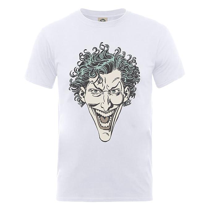 DC Comics DC0001471 Official The Joker Head-Camiseta Hombre: Amazon.es: Ropa y accesorios