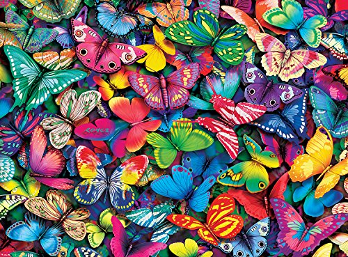Challenge 1000 Piece Puzzle - Buffalo Games - Vivid Collection - Butterflies - 1000 Piece Jigsaw Puzzle