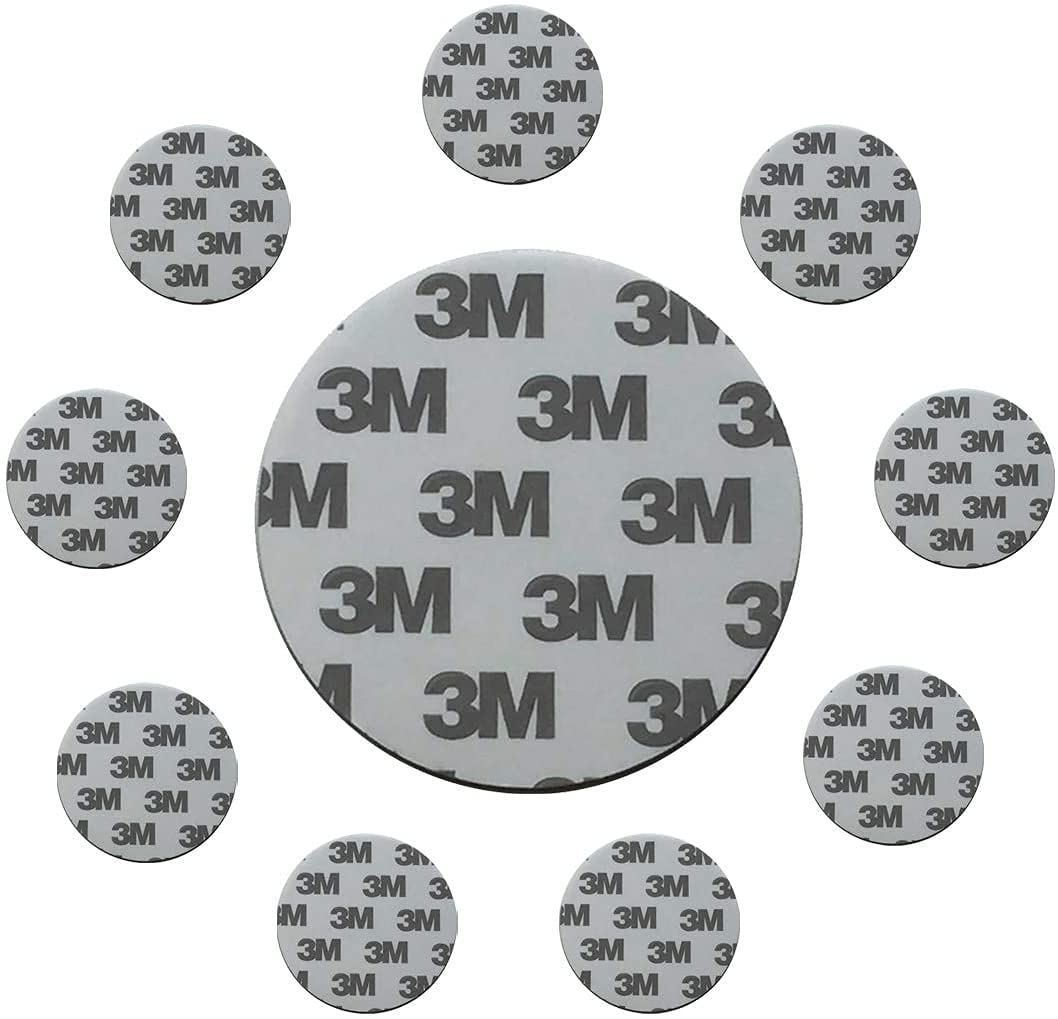 Double Sided Mounting Tape Sticker Round Pad 10pcs 2.6