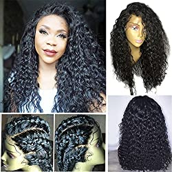 Dorosy Hair Lace Front Human Hair Wigs 150% Density Remy Hair with Natural Hairline for black women Curly hair with Baby Hair(18 inch with 150% density)