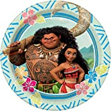 2 Sets of 8 Unique Disney Moana Dessert Plates Bundled by Maven Gifts