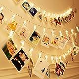 20 LEDs Photo Clip String Lights,Tobeape 3m Peg Lights for Photo Peg,Battery Powered Fairy Lights for Decoration Hanging…